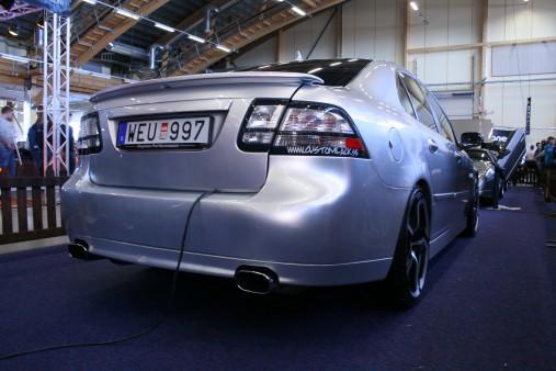 """Clean Saab 9 3 SS med trevlig grå """"grovkornig"""" lack"""